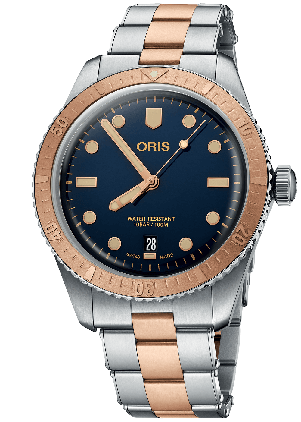 Oris Divers Sixty Five Bronze Stahl Galli