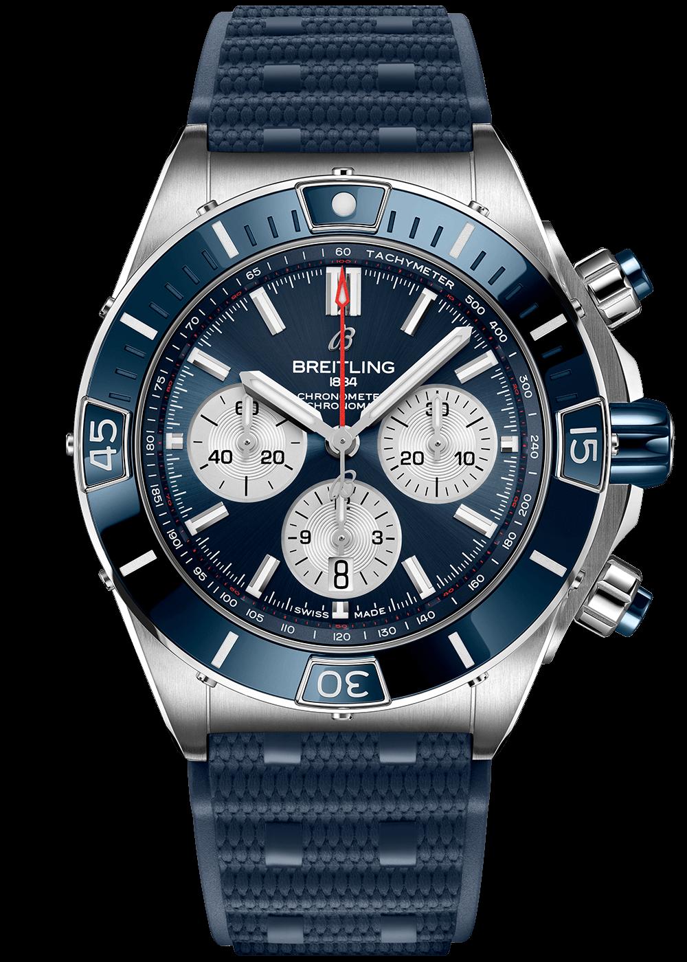 breitling-super-chronomat-44-blue-rubber