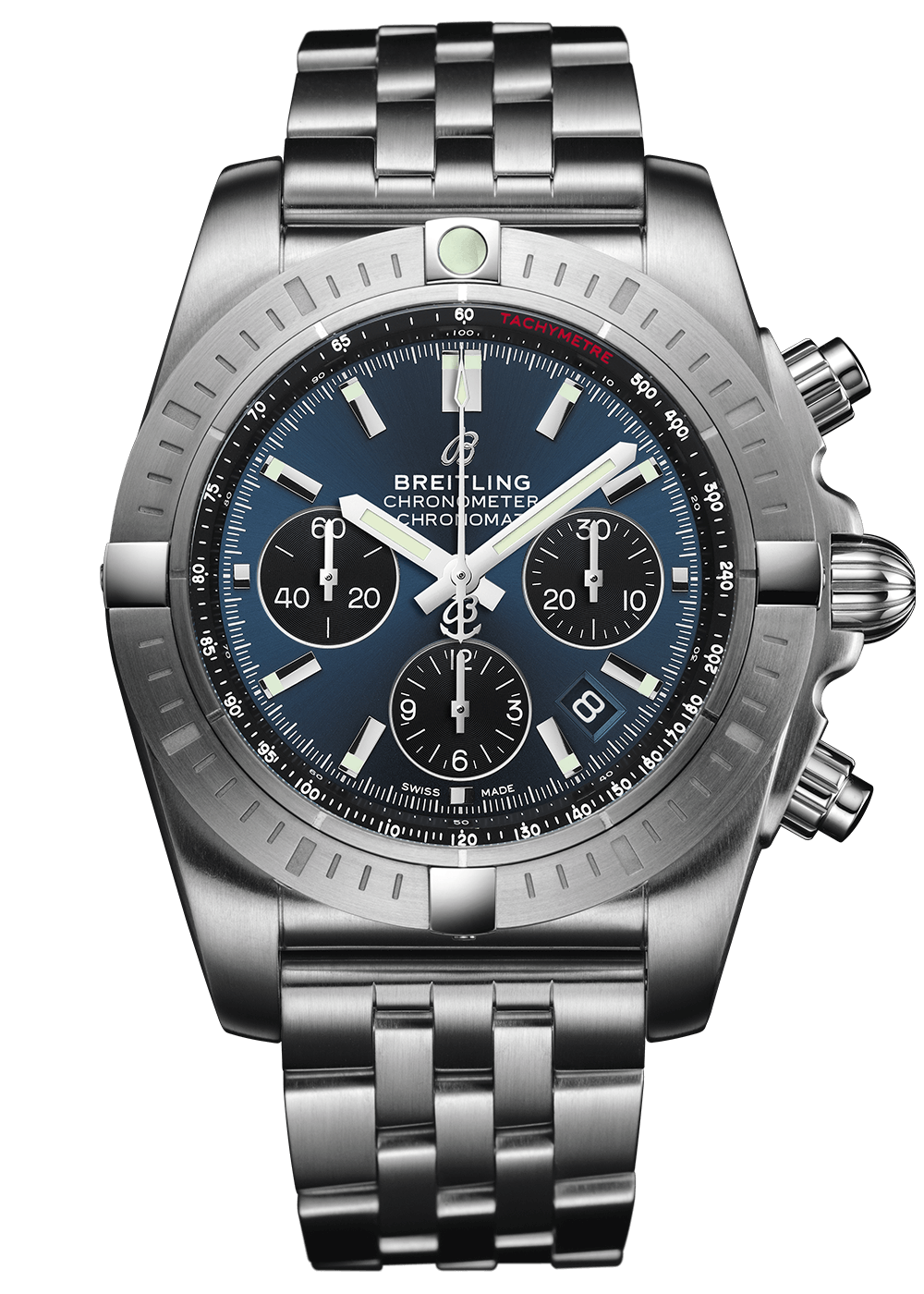 Chronomat B01 Chronograph 44 with Blackeye Blue dial an