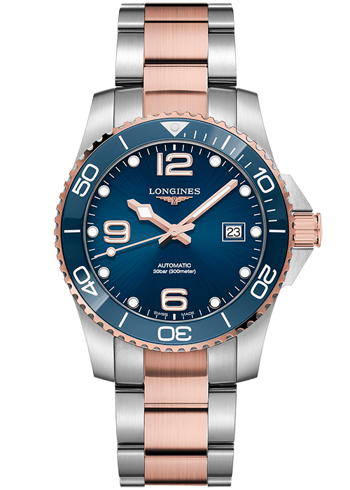longines-hydroconquest-twotone-blue