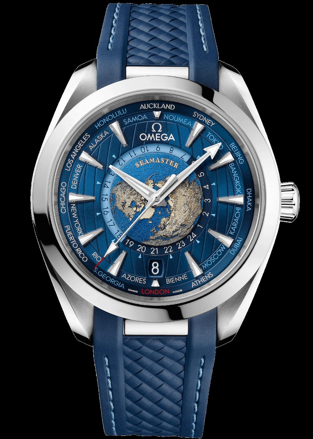 Omega Aqua Terra Master Chronometer Worldtimer