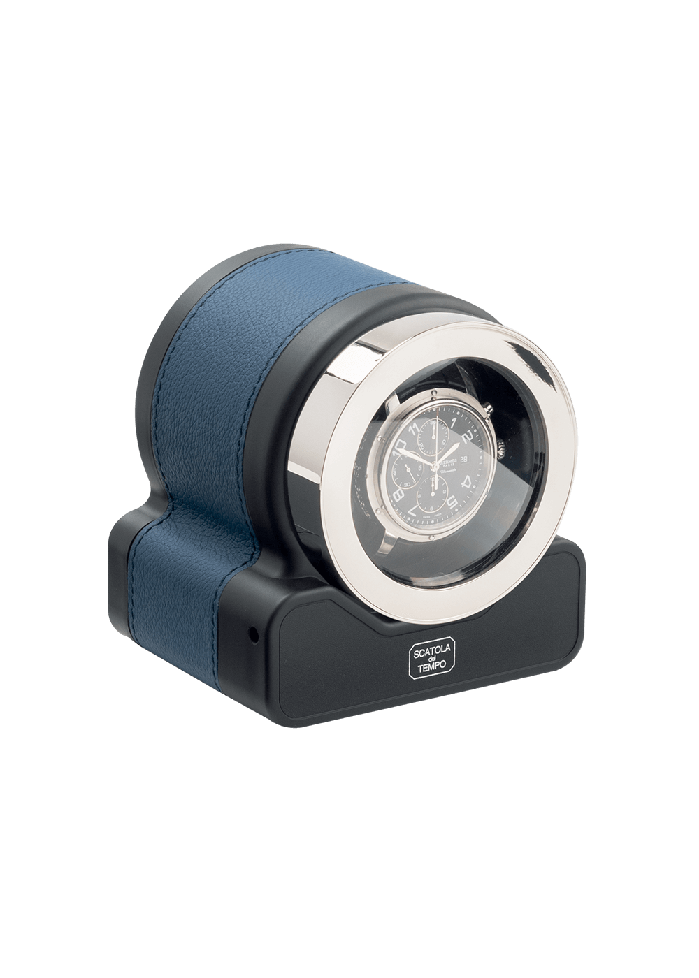 Scatola Del Tiempo Leder Blau Rotor One Zurich