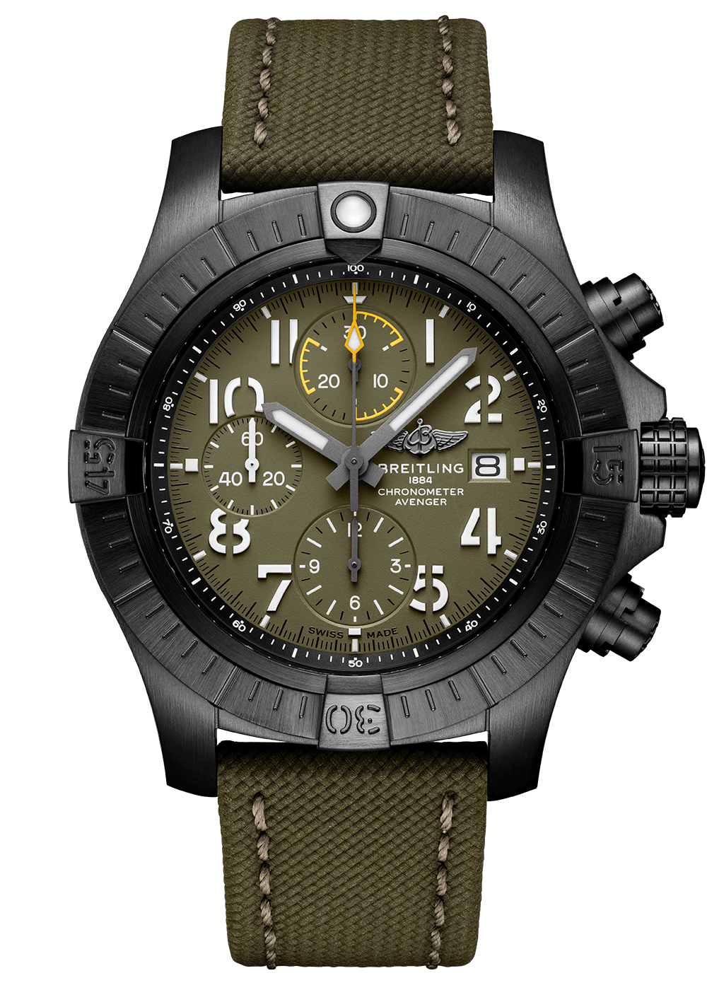 Breitling Avenger Chrono Night Mission 45 Green Galli Zürich