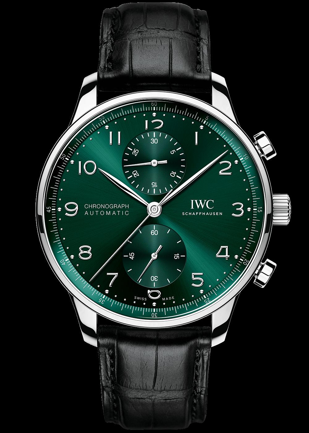 iwc-portugieser-chronograph-green
